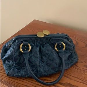Marc Jacobs teal leather satchel handbag purse
